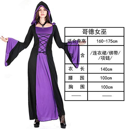 MYing Halloween-Kostüm Adult Hexe weiß Schnee Prinzessin Kleid Kleidung Hexe Cosplay spielt Vampir Anzug-Gothic - Adult Gothic Prinzessin Kostüm