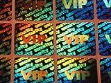 100 Stück Hologramm VIP Security, 20x20mm, Garantiesiegel, Sicherheitsetikett von LabelOcean (R), Hologramm-Aufkleber LO-HS1100a-100