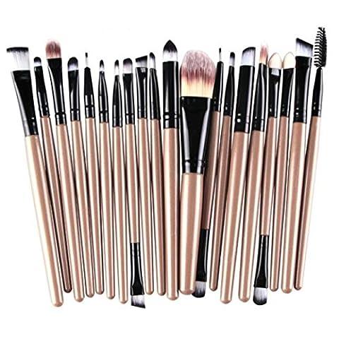 Tonsee® 20PCS Set Brosse Pro Makeup Brush Tools Make-up Toiletry Kit Makeup Brush (Gold+Black)