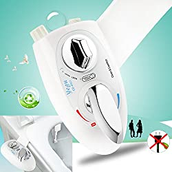 Yegu Bidet Toilet Seat Attachment With Self Cleaning Retractable Nozzle Hot and Cold Fresh Water Sprayer Non-Electric for Personal Hygiene, Easy Installation