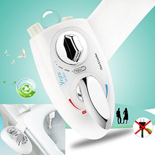 Bidet,Yegu WC-Aufsatz mit kalt u. warmwasser für Intimpflege,nicht elektrische Dusch-WC mit Selbstreinigung Düse für Mann und Frau