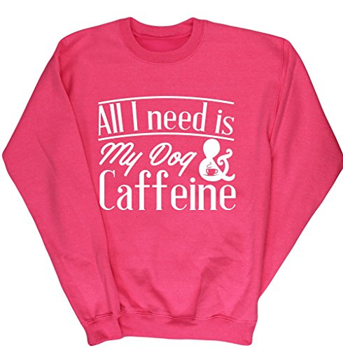 hippowarehouse-all-i-need-is-my-dog-caffeine-kids-unisex-jumper-sweatshirt-pullover