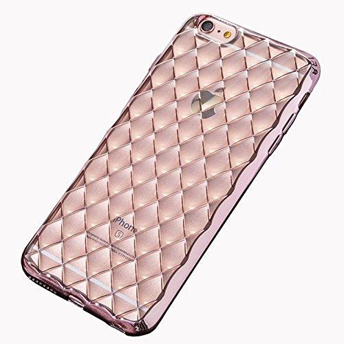 CORST 3D TPU Protettivo Skin Custodia Protettiva Shell Case Cover per iPhone 6Plus/6S Plus(Oro) Rosa
