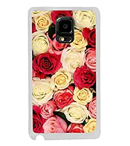 Fiobs Designer Back Case Cover for Samsung Galaxy Note Edge :: Samsung Galaxy Note Edge N915Fy N915A N915T N915K/N915L/N915S N915G N915D (Rose Flowers Floral Ful Red Gulaab Aroma Smell)