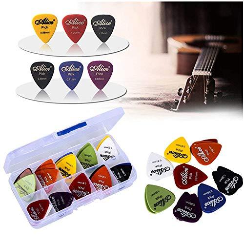 Preisvergleich Produktbild 50pcs Gitarren Plektrum1 Kastenkasten elektrische Gitarrenzusätze Gitarren plektren musikalische Instrumentstärke 0.58-1.5 Neuer Entwurf