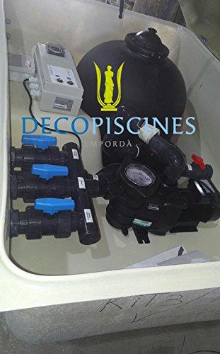 Filtration piscine à chlore prémonté dans local technique enterré Hayward filtre 600 - pompe 1cv - Bloc filtrant