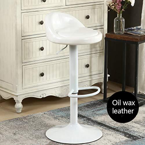 Oase Möbel (Muss eine Oase sein Hebe Drehstuhl hoher Fuß Barhocker Moderne minimalistische Brille Juweliergeschäft Rezeption Barhocker (Ölwachs Leder) (Color : D))