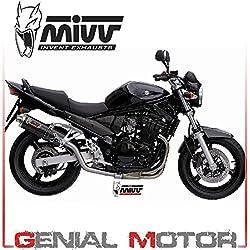 New AS.017.L3 Pot D Echappament MIVV Oval Carbone Haute pour Gsf 650 Bandit 2005 05