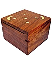 Mothers Day Gifts for Mum - Indian Highly Carved Beautiful Intrinsic Design Decorative Jewellery Box Wooden Case For Wife Size (Design 17)