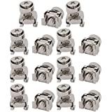 uxcell 15pcs M5x16mm 65Mn Steel Cage Nuts w Screws Washers for Server Rack Cabinet