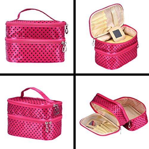 Tonsee® Femmes Portable Maquillage Case Sac pochette zippée Organisateur cosmétiques