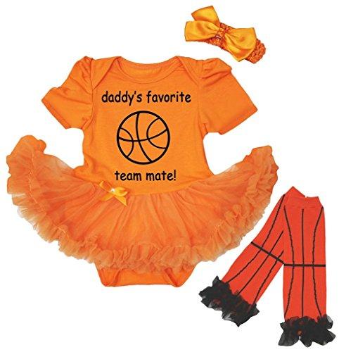 Petitebelle Baby Mädchen (0-24 Monate) Body orange Orange Gr. L, Orange Favorite Short-sleeve Bodysuit