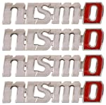A set of 4 car logo stickers for universal cars , made of metal with dimension of (L x W X H): 6.2 cm x 1.5 cm x 0.1 cm, Clean the surface prior to installation