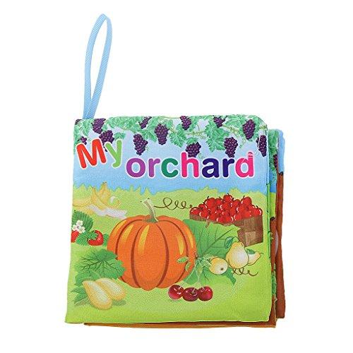 Sharplace Weiches Tuch Buch / Stoffbuch, Säugling Baby Kinder Intelligenz Entwicklung Spielzeug - Obstgarten