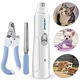 Smerigliatrici per animali, Zerhunt Smerigliatrice elettrica per unghie del cane USB ricaricabile per piccoli animali Claw Care