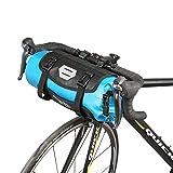 TOFERN Fahrradtasche Wasserabweisend Faltbar Lenkertasche Mit Klickverschluss Umhängetasche, dunkelblau