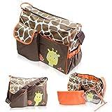 Borsa unisex cambio neonato - Motivo 'Giraffa' 38 x 32 x 15 cm - Borsa multitasche materassino fasciatoio