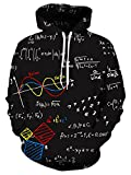 NEWISTAR Kapuzenpullover Couple HD 3D Printed Pullover Unisex Lange Ärmel Funny Christmas Patterned Sweatshirts for Teens Jumpers