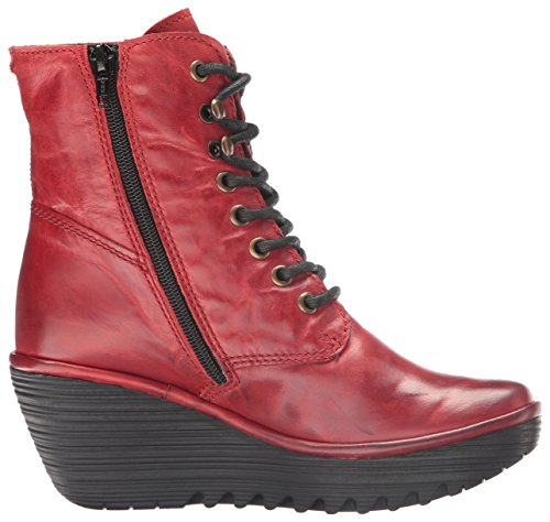 FLY London Ygot, Bottes femme Rouge (Red 021)