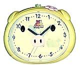 Happy Pepi Niños despertador amarillo con música o timbre, sin tic tac), silenciosa, funciona con...