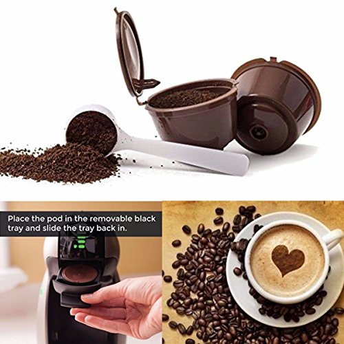wiederverwendbar nachfüllbar Single Mesh Tasse Kaffee Ersatz Filter Maker Pod ()