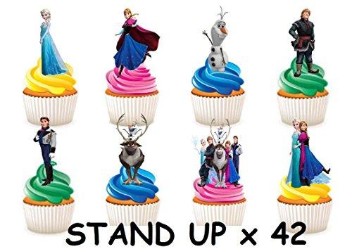 ationen aus Esspapier, Figuren der Charaktere Anna, Elsa und Olaf aus dem Film