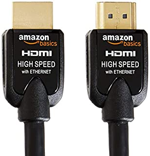 AmazonBasics High-Speed HDMI Cables *Pack of 2* of 2 m / 6.5 Feet - Supports Ethernet, 3D, Audio Return (B0052SCU8U) | Amazon price tracker / tracking, Amazon price history charts, Amazon price watches, Amazon price drop alerts