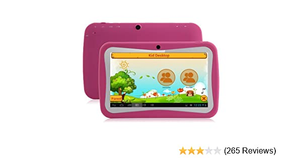 Klastor NEW Pink Rugged Girls Kids Android 4 1 Tablet PC 4gb WiFi - ideal  christmas or birthday gift with Kid Market and parental Controls - Google
