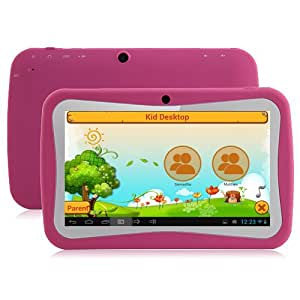 Klastor NEW Pink Rugged Girls Kids Android 4.1 Tablet PC 4gb WiFi - ideal christmas or birthday gift with Kid Market and parental Controls - Google Play store can be password protected (Pink 4gb)