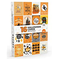16 x Halloween Cards by Joy MastersTM Vol.1 | Large Multipack with ENVELOPES