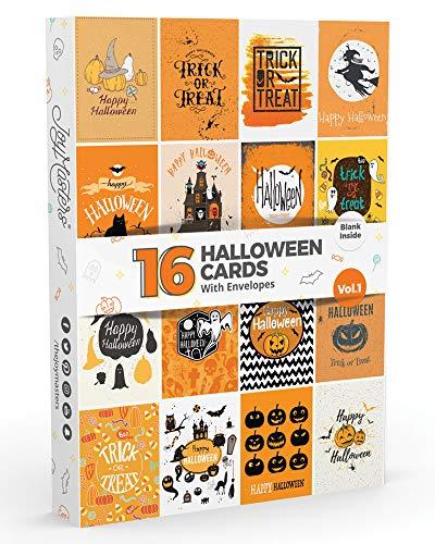 16x Halloween Karten von Joy masterstm Vol. 1  Große Pack mit Umschläge