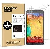 iVoler [Pack de 3] Verre Trempé Compatible avec Samsung Galaxy Note 3, Film Protection en Verre trempé écran Protecteur vitre