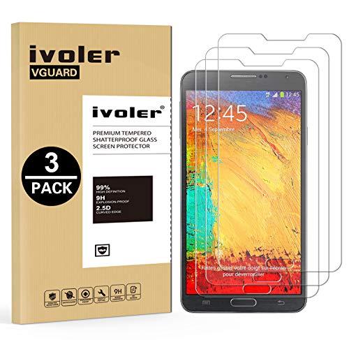 iVoler [3 Pack] Vetro Temperato Compatibile con Samsung Galaxy Note 3 [Garanzia a Vita], Pellicola Protettiva, Protezione per Schermo