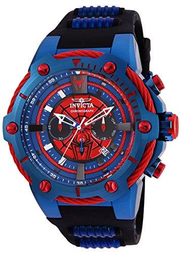 Invicta 25688 Marvel - Spiderman Orologio da Uomo acciaio inossidabile Quarzo quadrante rosso