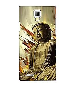Fuson Designer Back Case Cover for Micromax Canvas Xpress A99 :: Micromax A99 Canvas Xpress (Gautam Buddha Theme)