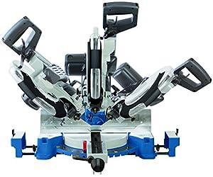Scheppach HM120L 240 V 305 mm Double Bevel Sliding Mitre Saw - Blue