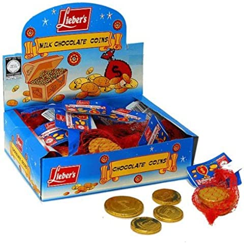 Chanukah / Hanukkah Candy / Gelt - One Bag of 4 Chocolate Coins by Leiber