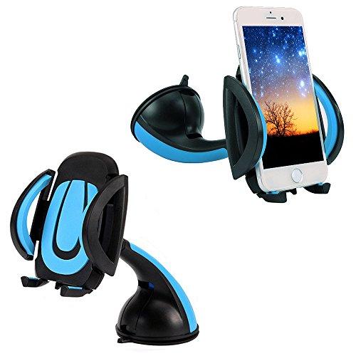 thanly Universal 360° KFZ Halterung Windschutzscheibe Armaturenbrett Handy Halterung Ständer Wiege Unterstützung für iPhone SE 766S Plus 55S 5C 4S 4HTC Galaxy S7S6S5S4S3Note 23457Nexus LG GPS PDA (Große Pda-fall)
