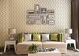 Abstrakte Moderne Minimalistische Lattice Mosaik Wallpaper Schlafzimmer Wohnzimmer Studie Klartext Vliestapeten Beige Wallpaper