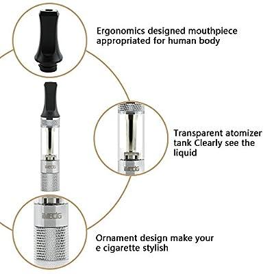 IMECIG® L1 Elektronische Zigarette mit LED Akku| Dampf E Zig Atomizerkopf| Nachfüllbare E Liquid| E Zigarette Starterset von IMECIG