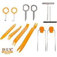DIY Crafts 12 Pcs Auto Door Clip Trim and Car Radio Removal Tool Kit Install and Remove Fasteners; Trims; Moldings and Panels for Works All in 1 (Pack of 12 Pcs 1 Kit, Install and Remove Fasteners)