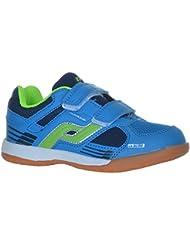 Pro Touch Kinder Hallenschuhe Sportschuhe Courtplayer Schuhe Klettverschluß Red/Orange