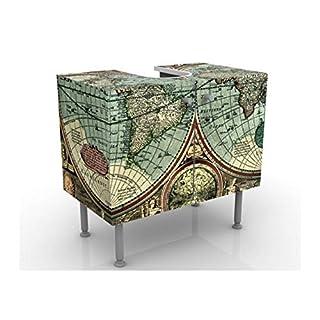 Apalis 52885 Waschbeckenunterschrank Die Alte Welt, 60 x 55 x 35 cm