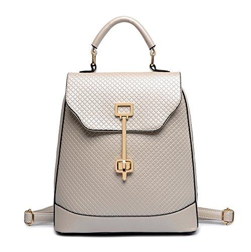 HYP einfachen Damen Tasche Handtasche Tasche Schultertasche Messenger Bag Doppel Schulter Tasche Argyle Mädchen Paket prägen, m, Weiß
