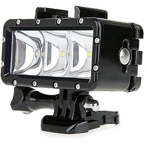 Hanzion Stampo ad alta potenza dimmerabile 3 impermeabile LED POV Flash Fill Light per GoPro Hero 4 / 3 + 3 / 2 / 1, xiaomi yi fotocamera SJcam