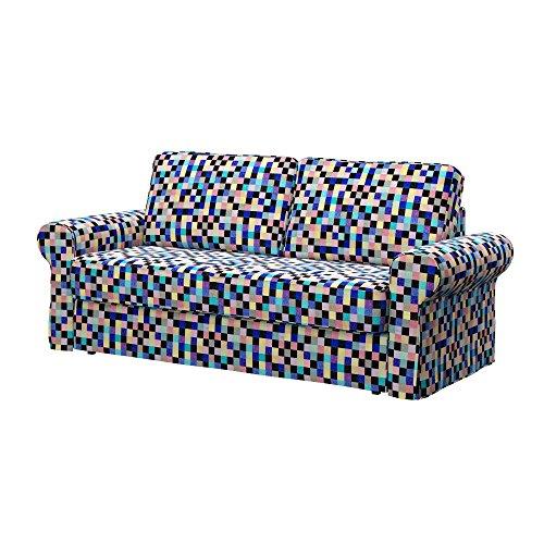 Soferia - IKEA BACKABRO Funda para sofá Cama de 3 plazas, Mozaik...