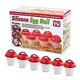 6x Vaschette cuoci uova immersione silicone bollire uovo sodo coque senza guscio
