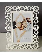 Art Street Decoralicious White Designer Circular Motif Photo Frame