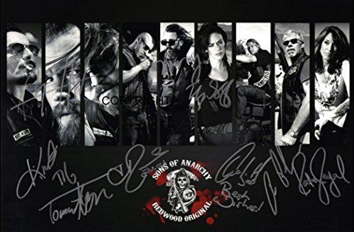 Fotodruck mit Autogrammen der Besetzung von Sons of Anarchy, mit Zertifikat, limitierte Ausgabe