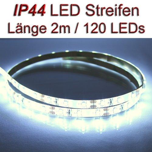 LED Streifen Strip WEISS wasserdicht ca. 2 m 120x LEDs PCBw